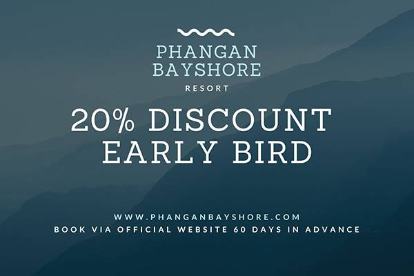 Early bird promo phangan bayshore resort & spa surat thani, koh phangan
